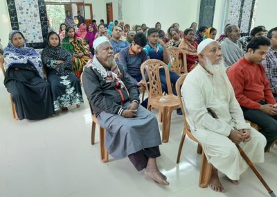 Patients of Free Fryday Clinic are waiting at Library Auditorium