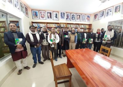Visitors form Lata area at reading room